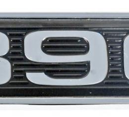 Daniel Carpenter 390 Mustang Black Chrome Plated Hood Scoop Adhesive Backed Emblem D0ZZ-16637-390