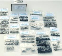 Camaro Body Fastener Kit, Indented Hex Head Style, Stainless Steel, 1967-1969