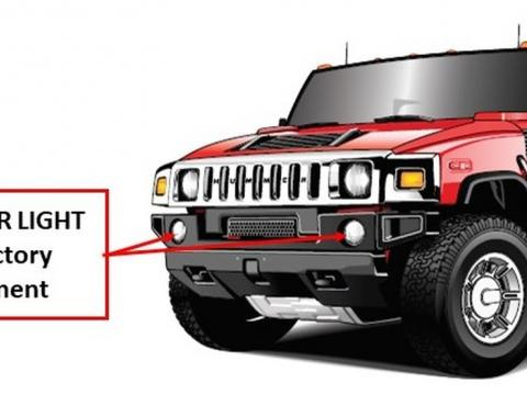 Intellitronix H2 Hummer Lights for DRL and Off-Road Lighting HDRL001