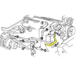 Corvette Throttle Body Heater Hose, Inlet LT1, 1992-1994
