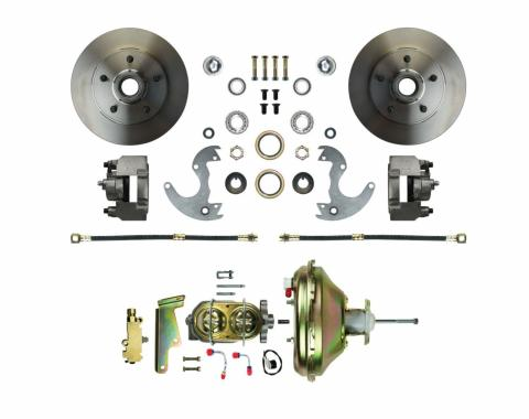 Right Stuff EZ Fit Power Front Disc Brake Conversion Kit with Standard Rotors for 64-72 A-Body, 67-69 F-Body and 68-74 Nova. AFXDC14