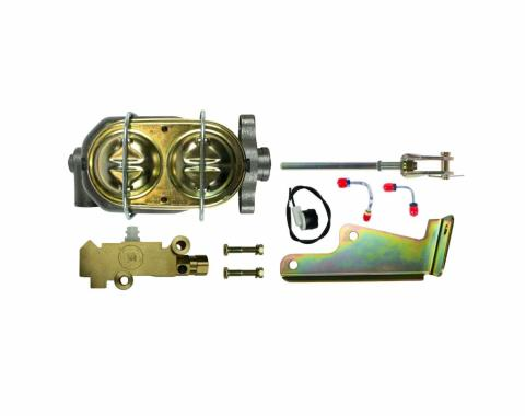 Right Stuff 1 Inch Bore Master Cylinder And Disc Brake Front/Disc Brake Rear Combination Valve Combo Kit G0572