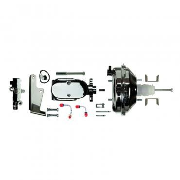 """Right Stuff Upper Assembly with Chrome Booster, 1"""" Bore, Valve, Lines and Brackets J92215672"""