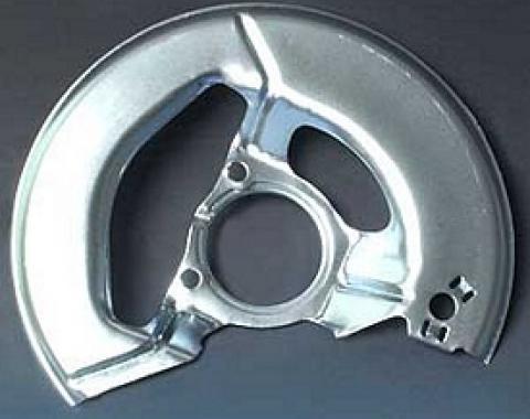 Corvette Brake Caliper Shield, Left, Front, 1965-1975
