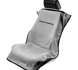 Seat Armour 2010-2019 Camaro Seat Towel, Gray with Camaro Script SA100NCAMG