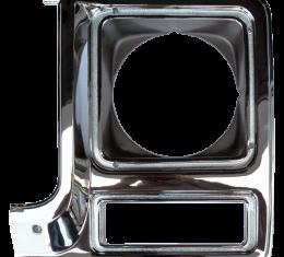 Key Parts '79-'80 Headlight Door Chrome/Drk Argent Driver's Side 0850-055L