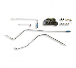 Corvette Brake Modify Kit, Single to Dual Master, Drum/Drum without Power Brakes, 1963-1964