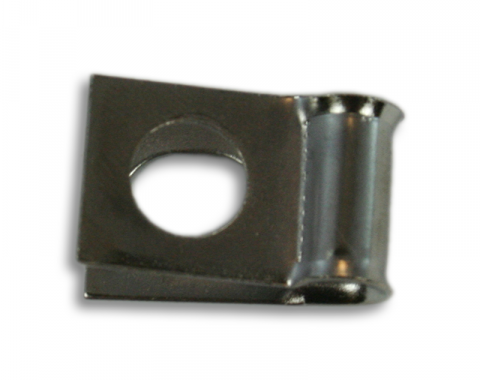 "Brake & Fuel Line Clamp, 3/8"" Line Clip 1/4"" Bolt Hole"