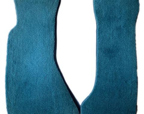 Corvette Floor Mats, 2 Piece ACC Cut Pile, Blue (802), BLEM 1984-1996