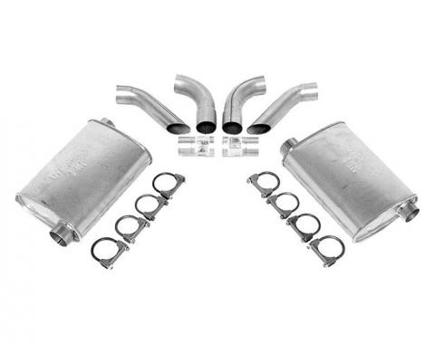 Corvette Dynomax Super Turbo Mufflers, 2 1/2 Inch, 1974-1982
