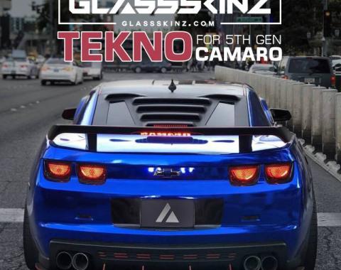 GlassSkinz 2010-15 Camaro Tekno 1 Rear Window Valance / Louver TEKNO1CAM5