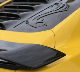 GlassSkinz 2015-2020 Mustang  Tekno 1 rear window valance / louver TEKNO1S550   Deep Impact Blue J4