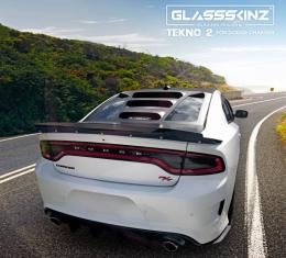 GlassSkinz 2011-20 Charger Tekno 2 Rear Window Valance / Louver TEKNO2CHGR | Yellow Jacket PY4