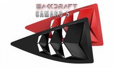 GlassSkinz 2010-15 Camaro Bakkdraft Rear Quarter Window Louvers CAM5BAKKDRAFT-QTR   Yellow GCO