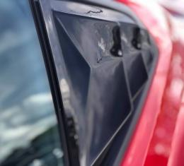 GlassSkinz 2016-20 Camaro BakkdraftRear Quarter Window Louvers CAM6BAKKDRAFT-QTR | Red Hot G7C