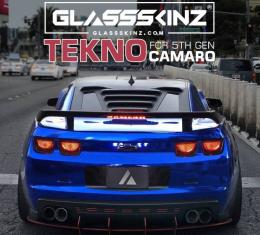 GlassSkinz 2010-15 Camaro Tekno 1 Rear Window Valance / Louver TEKNO1CAM5 | Mystic Bronze Gjy GGY