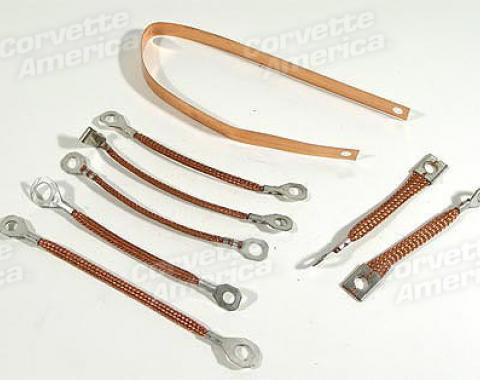 Corvette Ground Strap Kit, Standard Exhaust, 1963