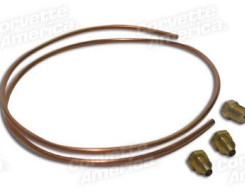 Corvette Oil Line Kit, Copper Small Block, 1963-1967