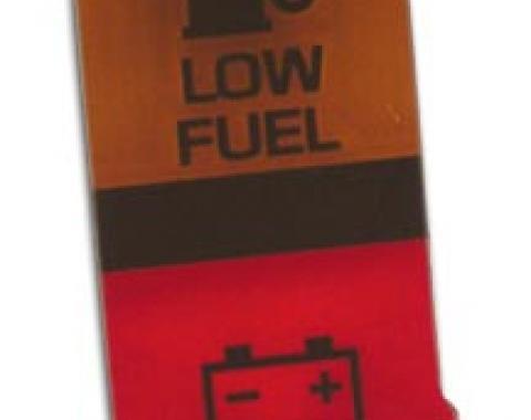 Corvette Lens, Low Fuel/Battery Warning, 1980-1982