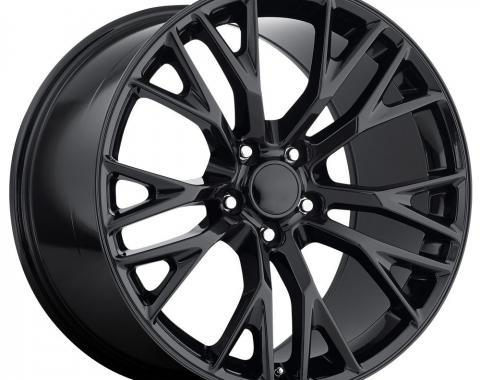 Factory Reproductions C7 Corvette Wheels 19X10 5X4.75 +40 HB 70.3 2015 C7 Z06 Gloss Black With Cap FR Series 22 22910403402