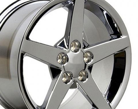 """19"""" Fits Chevrolet - Corvette C6 Wheel - Chrome 19x10"""