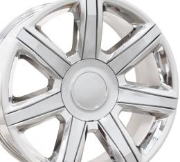 """22"""" Fits Cadillac - Escalade Wheel - PVD Chrome with Chrome Insert 22x9"""
