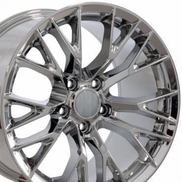 "20"" fits Chevrolet Corvette C7 Z06 Wheel Replica - Chrome 20x12"