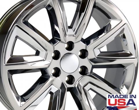 """22"""" Fits Chevrolet - Tahoe Wheel - PVD Chrome with Chrome Inserts 22x9"""