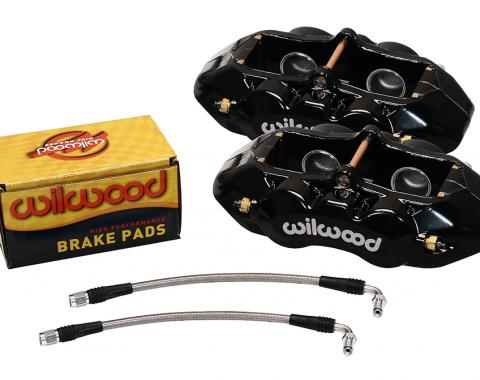 Wilwood Brakes 1965-1982 Chevrolet Corvette D8-4 Rear Replacement Caliper Kit 140-10790-BK