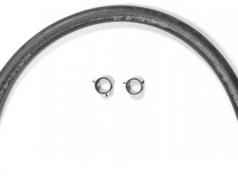 Corvette Power Brake Vacuum Hose with Clamp, Except 3X2, 1963-1981