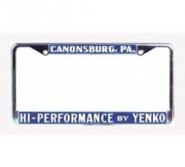 Nova Yenko License Frame, High Performace By Yenko