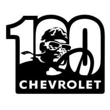 Chevrolet Metal Sign,100th,16 X 13