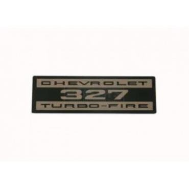 Nova and Chevy II Valve Cover Decal, 327 Turbo-Fire, 1965
