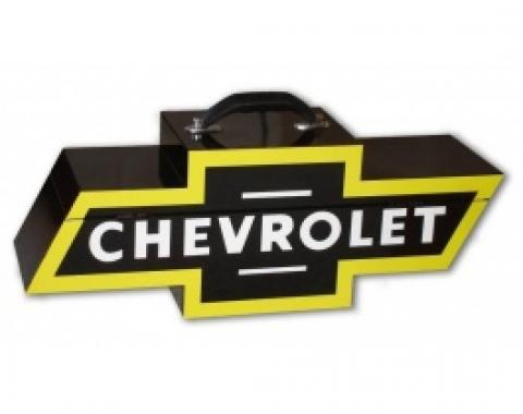 Chevy Bowtie Shaped Portable Tool Box, Black & Yellow