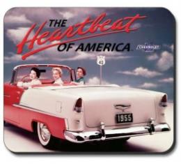 55 Chevy Vintage Ad, Mouse Pad
