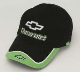 Chevy Cap, With Embroidered Chevrolet Bowtie & Script, Green