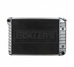 Nova US Radiator, Copper And Brass, Standard Duty, For Cars With Small Block 307CI And 350CI, Manual Transmission, Three Row, 1972-1974