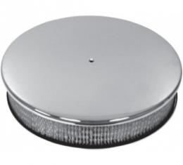 Air Cleaner, Round Smooth Polished Aluminum, 14 X 3