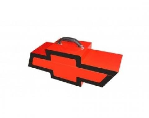 Chevy Bowtie Shaped Portable Tool Box, Red & Black