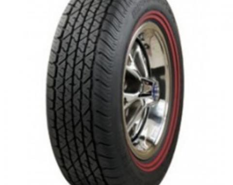 Nova Tire, 6.95/14 With 3/8 Dual Red Stripe, Goodyear Power Cushion Bias Ply, 1965-1967