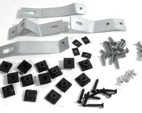 Corvette Side Exhaust Cover Mounting Kit, 1965-1967