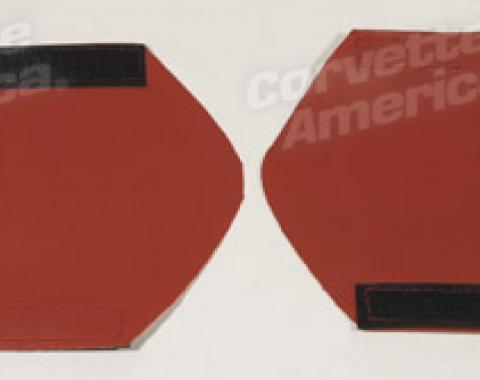 Corvette America 2000-2004 Chevrolet Corvette Door Pull Accent Wraps Torch Red 44760