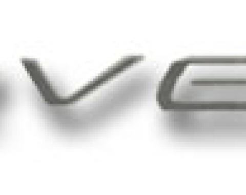 Corvette Dash Letter Kit, Silver, 1997-2004