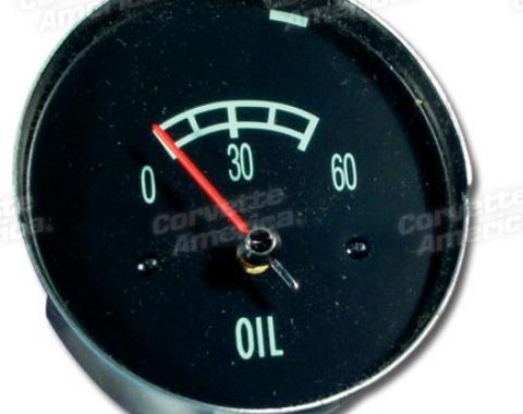 Corvette Oil Gauge, 60#, 1965-1967