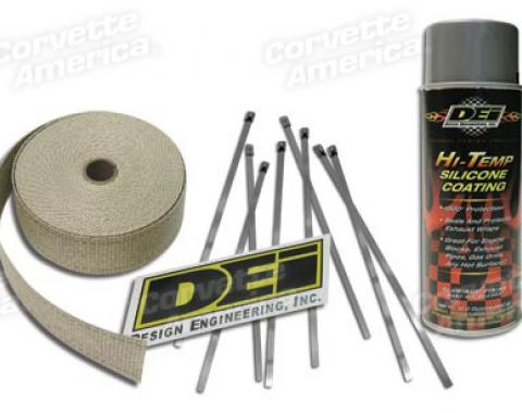 Corvette Exhaust Wrap Kit, Aluminum