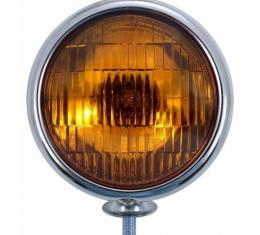 United Pacific 12V Vintage Chrome Fog Light, Amber Lens C364007