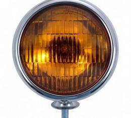 United Pacific 6V Vintage Chrome Fog Light, Amber Lens C364009