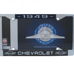 United Pacific Chrome License Plate Frame For 1949 Chevrolet Car & Truck C5041-49