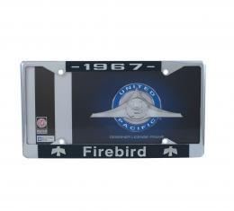 United Pacific Chrome License Plate Frame For 1967 Pontiac Firebird C5039-67