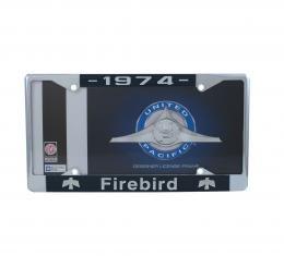 United Pacific Chrome License Plate Frame For 1974 Pontiac Firebird C5039-74